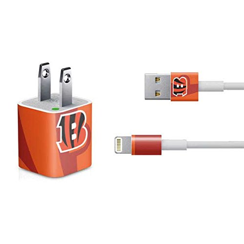 Skinit Decal Skin Compatible with iPhone Charger (5W USB) - Officially Licensed NFL Cincinnati Bengals Double Vision Design