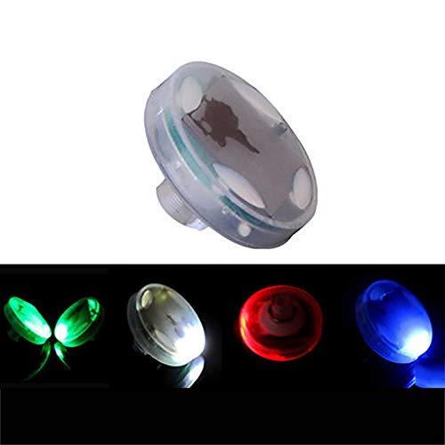 GJQDDP Lumière de Roue de Voiture, pneus de Voiture, lumières de Moto, lumières de Valve à LED solaires, lumières de décoration de Roues, Quatre Modes Brillants, Installation Portable