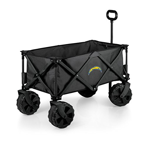 Lowest Price! NFL Los Angeles Chargers Elite Edition Collapsible Adventure Wagon with All-Terrain Wh...