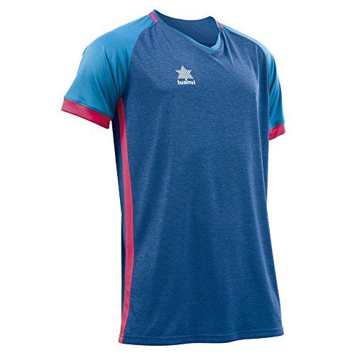 Luanvi Aston Camiseta, Hombre, Azul, XL