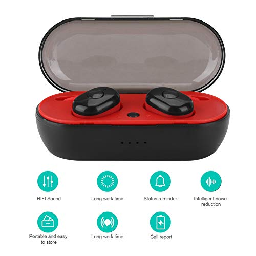 I8 Sport TWS Auriculares Inalámbricos BT 5.0 Audífonos música, Compartimiento de Carga Inteligente Pantalla de Alimentación para Teléfonos / Tabletas / Computadoras Portátiles / Smart TV, etc.(Negro)