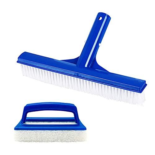 GmeDhc Spazzola per piscina in plastica, 2 pezzi spazzola per piscina fuori terra, spazzole per piscine in kit, strumenti per pulizia piscina per pulizia bordi per lavasciuga, spa, piscine