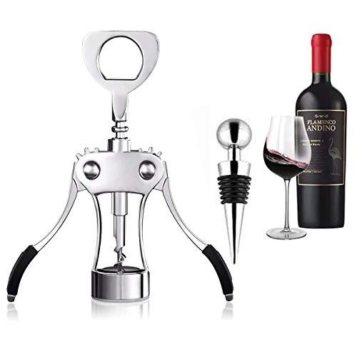 Cymax Winged Korkenzieher mit Weinstopper,Hochqualitativer Weinöffner,Multifunktionaler Flaschenöffner für Wein, Bier & Prosecco