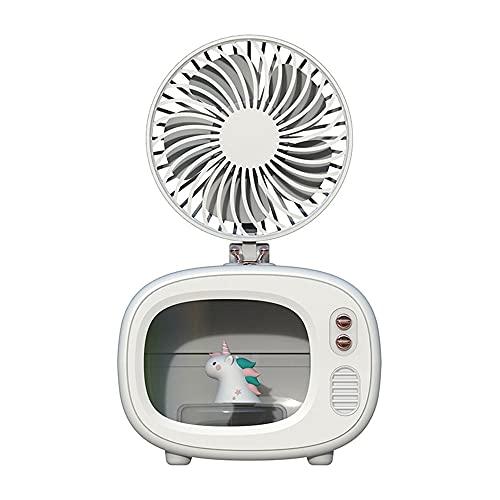 YUYI Climatizadores evaporativos Enfriador de Aire Personal, Aire Acondicionado portátil sin Cable de 4000 mAh con 3 Modos de Velocidad, Ventilador de Mini Aire Acondicionado Recargable con 7 Colores
