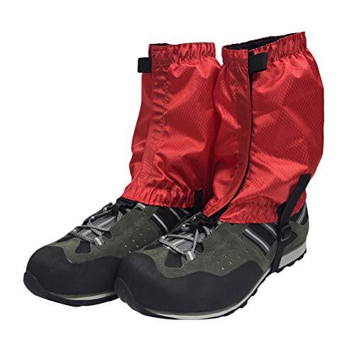 VORCOOL 1 Paar Schnee Gamaschen Leichte Wasserdichte Knöchel Gamaschen für Outdoor Wandern Klettern (Rot)