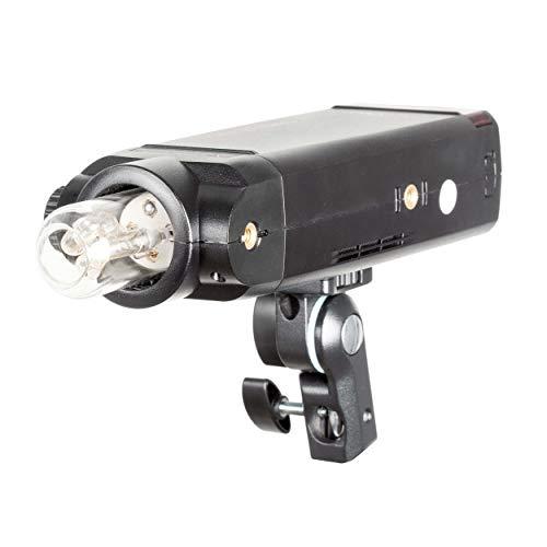 PIXAPRO PIKA200 PRO con soporte inteligente Bowens S-Type - Receptor integrado, flash estroboscópico y modo de sincronización de cortina trasera, luz de modelado LED