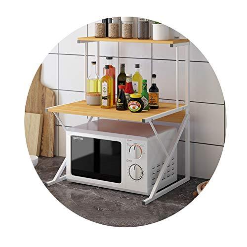 FXPCYGZ Mikrowelle Rack 2 Ebenen, Mikrowellenregalständer, Regal für küchenarbeitsplatten,mikrowellenständer küchenregal,25kg tragendes Edelstahl Einfach zu säubern Kratzfest(I)
