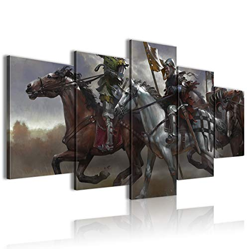 AivGEG Quadro Canvas Kingdom Come Deliverance Band of Bastards Sala da Pranzo da Gioco 100x50 Senza Cornice