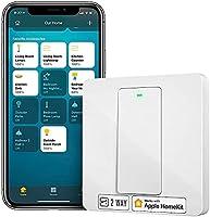 Przełącznik HomeKit, Meross Inteligentny Switch Smart Wi-Fi Przełącznik Ścienny, 2 Sposób Wymagane Neutralny, Fizyczny...