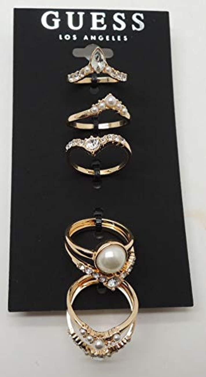 GUESS Women's Stacker Ring Set of 7