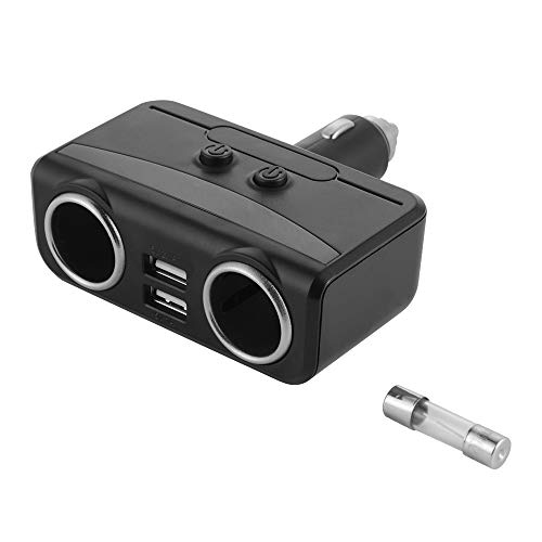 12/24 V spanningsweergave. Display met 2 USB-poorten, sigarettenaansteker, splitter, LED-display voor spanning monitor, adapter MA1878, autolader