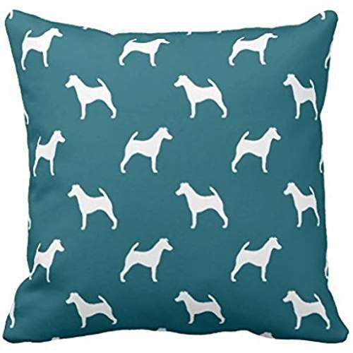 Smooth Fox Terrier siluetas patrón Throw r5F63e31704d0412db5bb934b82462897i5F0b 8byvr funda de almohada