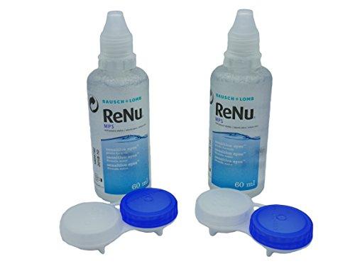 Renu-MPS-Kontaktlinsen-Reinigungslösung - 2x 60ml - praktisch für Reisen