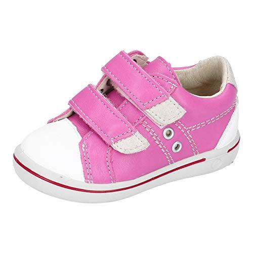 RICOSTA Kinder Low-Top Sneaker Nippy von Pepino, Weite: Mittel (WMS), Freizeit Halbschuh sportschuh Klettschuh,rosada/Weiss,28 EU / 10 Child UK