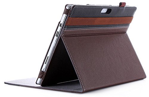 ProCase Surface Pro 7 / Pro 6 / Surface Pro 2017 / Pro 4 /Pro 3 Case, Premium PU Leather Folio Stand Cover, Compatible with Type Cover Keyboard -Brown