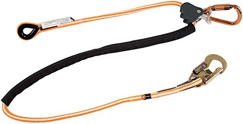 Pelican Rope Positioning Lanyard with Steel Snap Hook (1/2 inch x 10 feet) – Polyester Rope, Adjustable Lanyard, for Fall Protection, Arborist, Tree Climbers