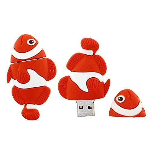 128GB Forma di pesce USB unità Flash Pen Drive memoria Flash Stick PenDrives USB Flash disco pollice unità U disco USB drive USB 2,0 Pen Drive PenDrive (Rosso)