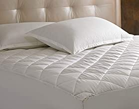 Sheraton Mattress Pad - Diamond Quilted Mattress Topper - Fits Mattresses Up to 18