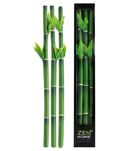 LUCKY BAMBOO - Glücksbambus Pflanze - Künstliche Pflanzen - Künstlicher Bambus - Kunstpflanze - Glücksgeschenk - Ornament Haus Hausküche - Glücksbringer - Zen-Dekoration