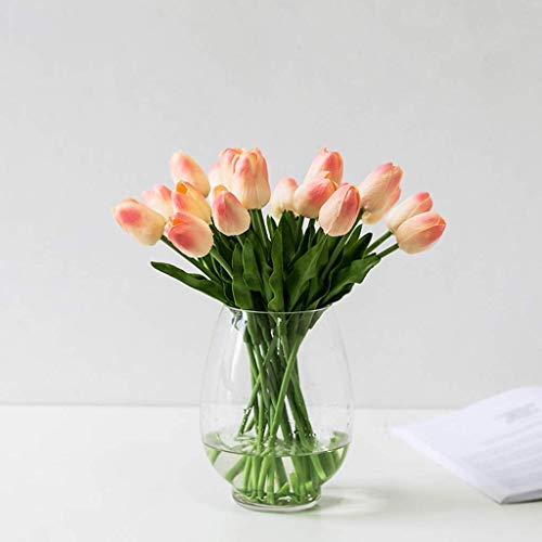 LITING Kunstblume Kunstpflanze Simulation Tulpenstrauß Indoor Desktop Blumengesteck (Farbe: Pink, Größe: 20 Stück)