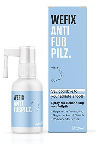 WeFix® Anti Fußpilz Spray 25ml | STOPPT Juckreiz & Geruch | Fußpilz Behandlung Schnell intensiv | Mittel gegen Fußpilz mit Vorbeugenden Schutz