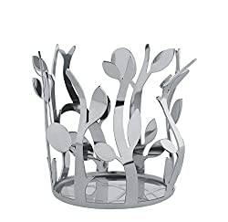 """in budget affordable 18/10 Stainless Steel, Mirror Polished, Silver Alessi """"Oriette"""" Olive Oil Bottle Holder"""