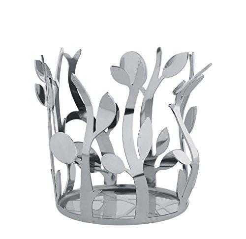 Alessi Flaschenhalter Öl, Edelstahl, Silber, 10 x 13.5 x 9 cm