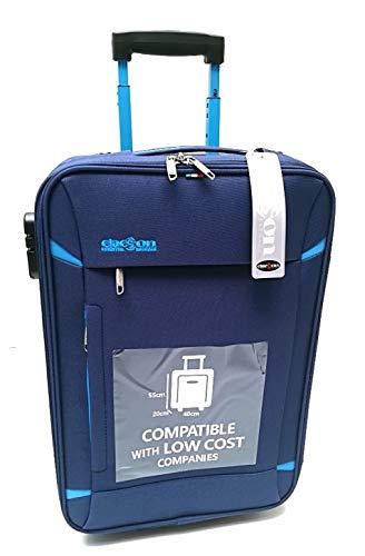 Handbagage Trolley koffer Geschikt voor goedkoop Ryanair Easyjet vluchten (blauw)