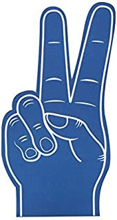 peace sign foam finger