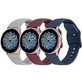 Fook 3 Pack Correa Compatible con Samsung Galaxy Watch Active 2, 20mm Pulseras de Repuesto para Samsung Galaxy Watch Active 2 40mm 44mm / Amazfit GTS / Amazfit Bip / Amazfit Bip Lite