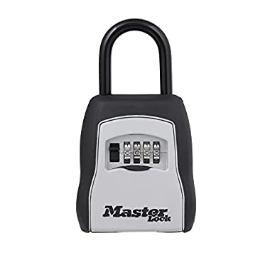Master Lock Lock Box, Set Your Own Combination Portable Key Safe, 3-1/4 in. Wide, 5400D