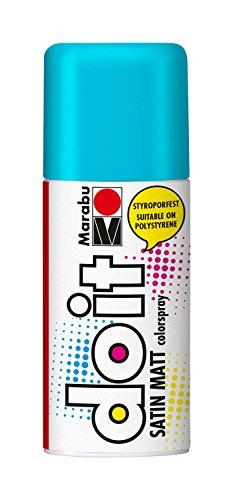 Marabu 21070006150 - Do it Satin Matt türkis, Colorspray auf Acrylbasis, styroporfest, schnell trocknend, sehr gute Deckkraft, wetterfest, für große und kleine Bastelarbeiten, 150 ml Sprühdosev