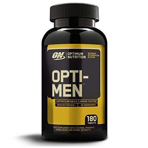 Optimum Nutrition ON Opti-Men, Suplemento Multivitamínico, Multivitaminas y Minerales para Hombres con BCAA, Glutamina, Vitamina C, Zinc y Magnesio, sin sabor, 60 porciones, 180 Cápsulas