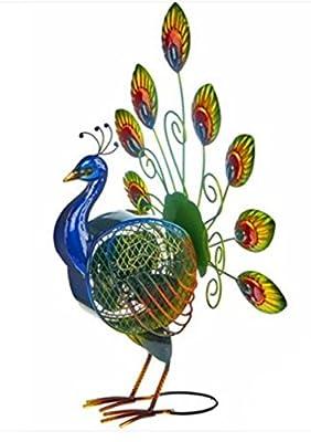 Animal World - Peacock Standing Decorative Fan