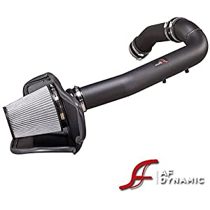 AF Dynamic Black Cold Air Filter Intake Systems with Heat Shield 2011-2015 Compatible With Durango/Grand Cherokee
