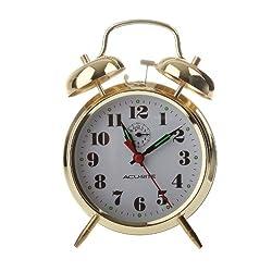 AcuRite 15605 Vintage Twin Bell Alarm Clock
