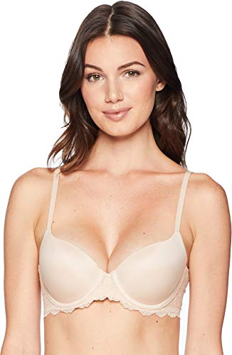 SPANX Women's Undie-Tectable Lightly Lined Demi Bra, Soft Nude, 38D