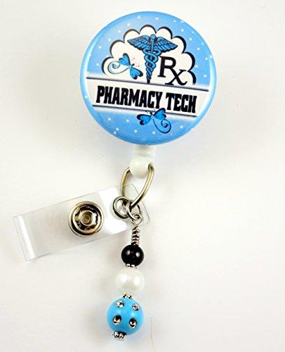 Pharmacy Tech RX Blue - Nurse Badge Reel - Retractable ID Badge Holder - Nurse Badge - Badge Clip - Badge Reels - Pediatric - RN - Name Badge Holder