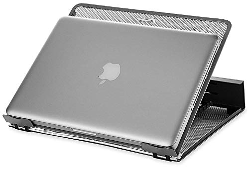 Callas Ventilated Height Adjustable Laptop Cooling Pad/Laptop Stand   Compatible 11 to 17 Inches Laptops   Metal Mesh   Strong Material Stand (Silver; Pack of 1)