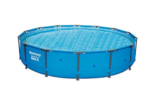 "Bestway 56597E Pro MAX Above Ground, 14ft x 33in | Steel Frame Round Pool Set | No Tools Required, 14' x 33"", Blue"
