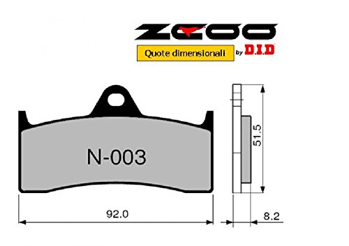 45 N00300 Plaquettes de Frein zcoo (N003 ancienne) MV Agusta F4 1000 Tamburini All Models – Mamba – Corse – 2004 – 2006 (avant)