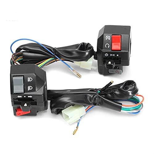 1PAIR 22mm Motorcycle Switch Motorbike Manillar izquierdo derecho Control Lado Interruptores Niebla Cuerno de luz de giro Interruptores de señal Interruptor Moto (Color : 1 Pair)
