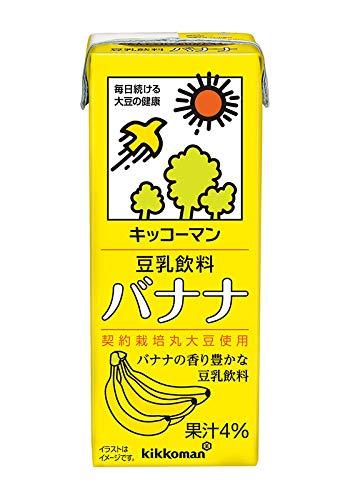 キッコーマン 豆乳飲料 バナナ 200mlパック×18本 2ケース