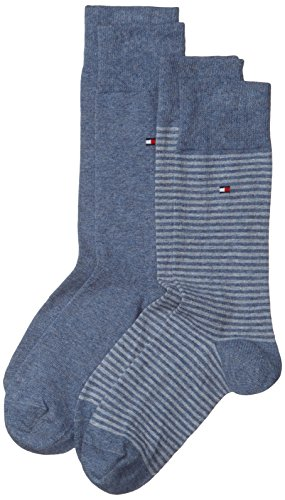 Tommy Hilfiger Herren Socken TH MEN SMALL STRIPE, 2er Pack, Blau (Jeans 356), 43-46EU (9/11UK)