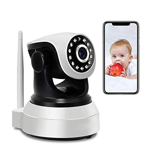 Monitor De Bebé, WiFi Cámara IP Inalámbrica De WiFi1080p HD Vigilancia Cámara PTZ Cámara CCTV Interior, Cámara De Seguridad Con Visión Nocturna, Audio De 2 Vías, Control De Aplicacion(Size:Camera+64G)