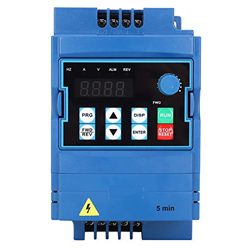 Convertidor de frecuencia VFD, controlador de frecuencia 0,75 kW controlador de velocidad universal 380 V convertidor de motor trifásico controlador universal convertidor de frecuencia de 2,5 A