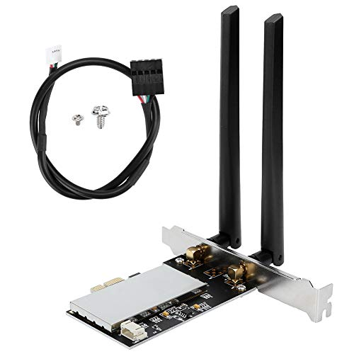 Aigend PCIE Wi-Fi Adattatori Wireless con 2 Antenne, Scheda WiFi Senza Fili Supporto per Windows 7 8 10   OS X Hackintosh, Compatibile con BCM94360CD BCM94360CS2 BCM943602CS