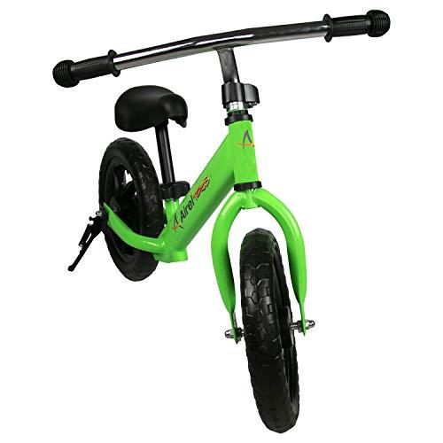 Airel Bicicleta Equilibrio para Niños   Bicicleta Sin Pedales   Bicicleta Sin Pedales Infantil   Manillar y Asiento Regulables   De 2 a 6 años (Verde)