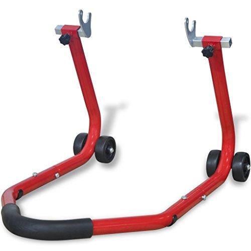 Festnight- Support arrière pour Moto Rouge Supports de Moteur