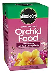 For orchids and all acid loving plants Feed every 2 weeks for colorful, beautiful orchids Provides deep rich leaf color, beautiful blooms and strong root development Apply every 2 weeks during active growth periods, every 4 weeks during rest periods ...